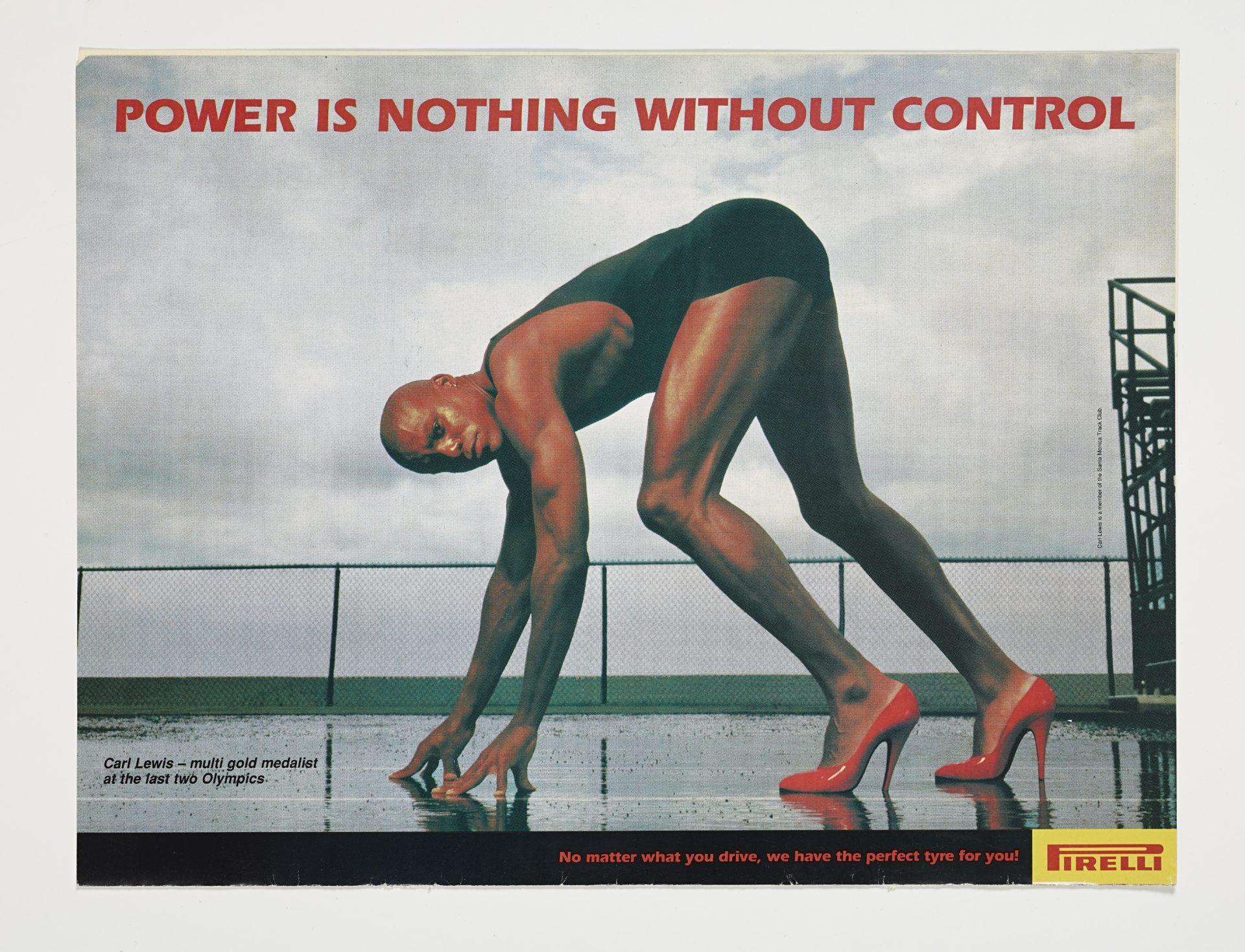 Lo slogan Pirelli La potenza è nulla senza controllo con Carl Lewis