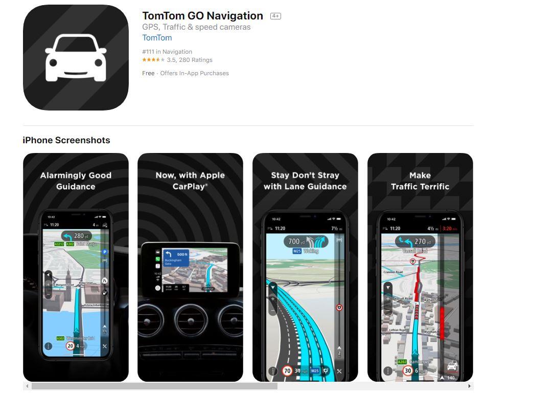 L'app di Tom Tom Navigation