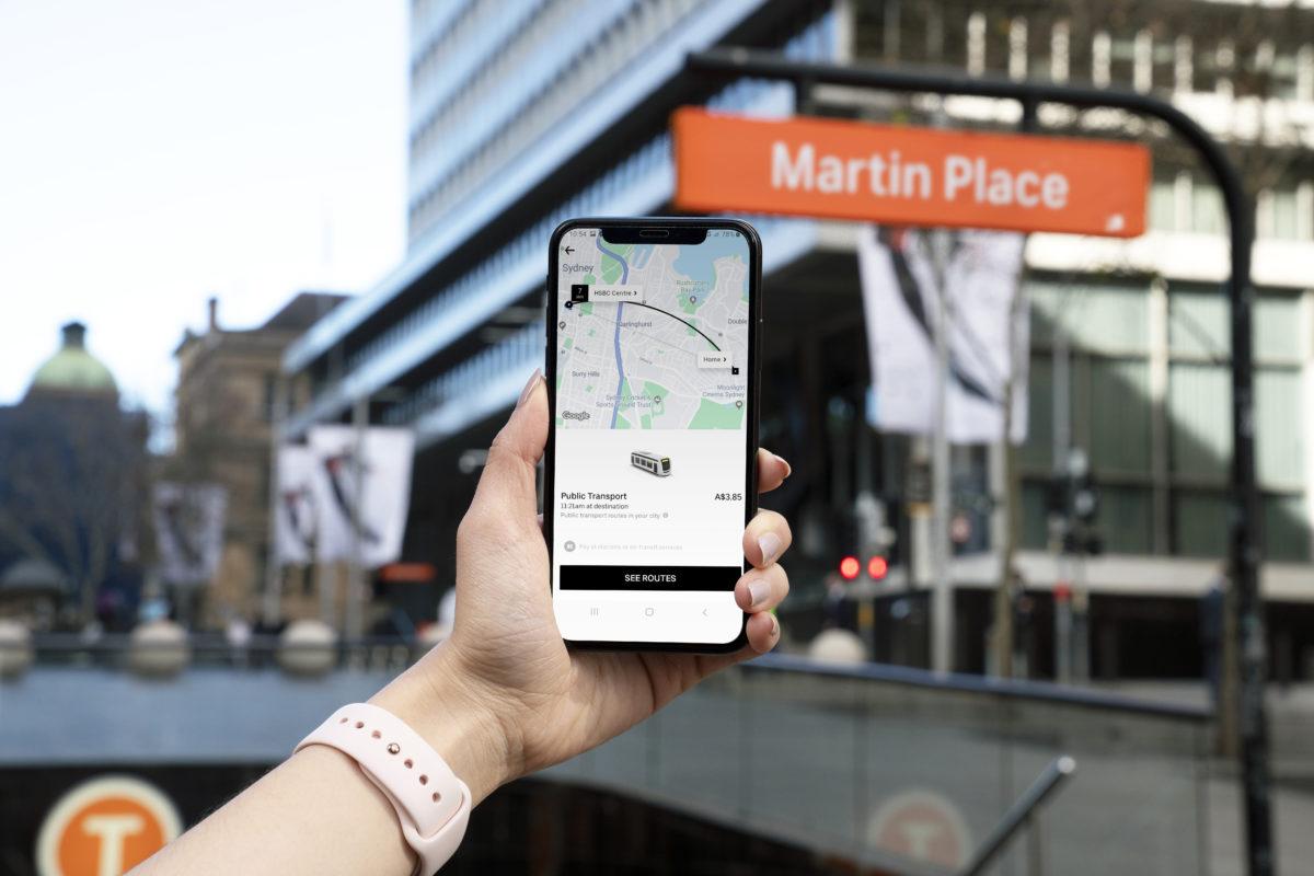 Uber integra il trasporto pubblico nell'app (a Sidney)