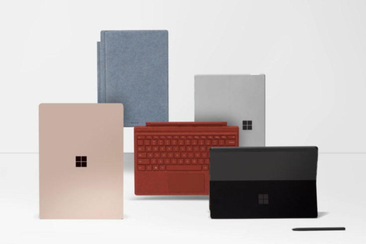 Da Microsoft quattro nuovi Surface per l'Italia