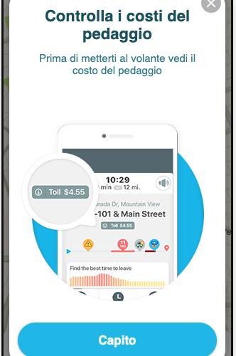 Waze aggiunge in Italia la funzione Costo Pedaggio