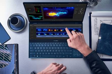 ScreenPad Plus: Asus mette due schermi sugli ZenBook Duo e duo Pro