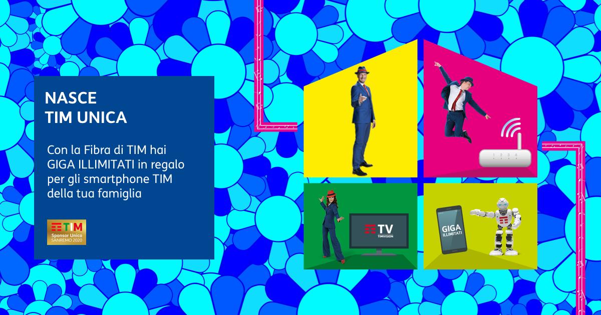 È nata TIM Unica: Fisso, Mobile, TV, e Smart Home insieme
