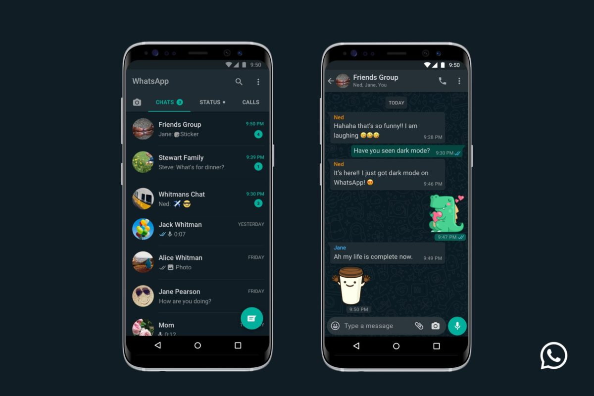 WhatsApp: La Dark mode sbarca su iPhone e Android