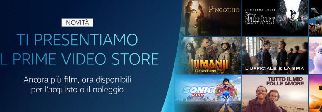 Amazon, anche in Italia il Prime Video Store