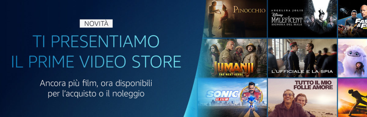 Amazon, anche in Italia il Prime Video Store