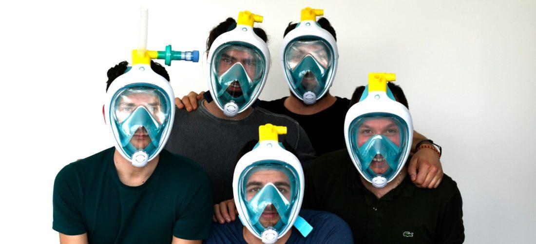 Coronavirus, la maschera da snorkeling che salva vite