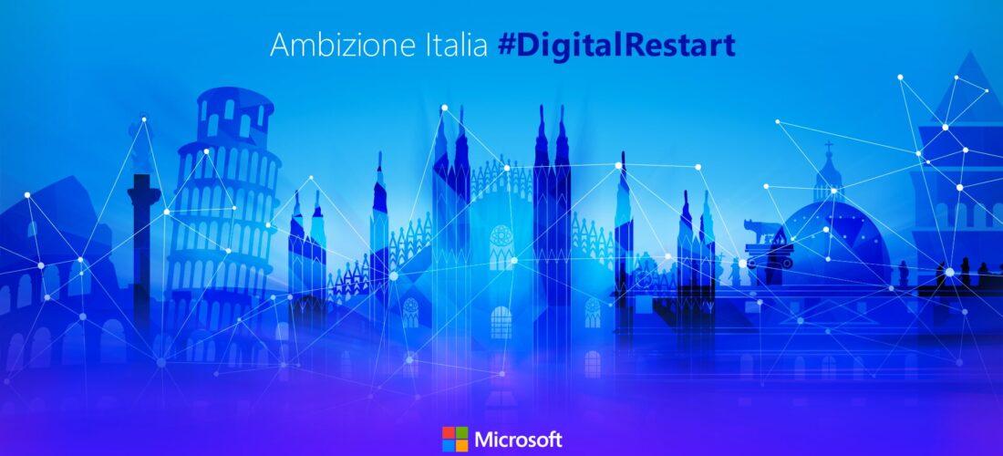 #DigitalRestart in Italia: Microsoft investe 1,5 miliardi di dollari