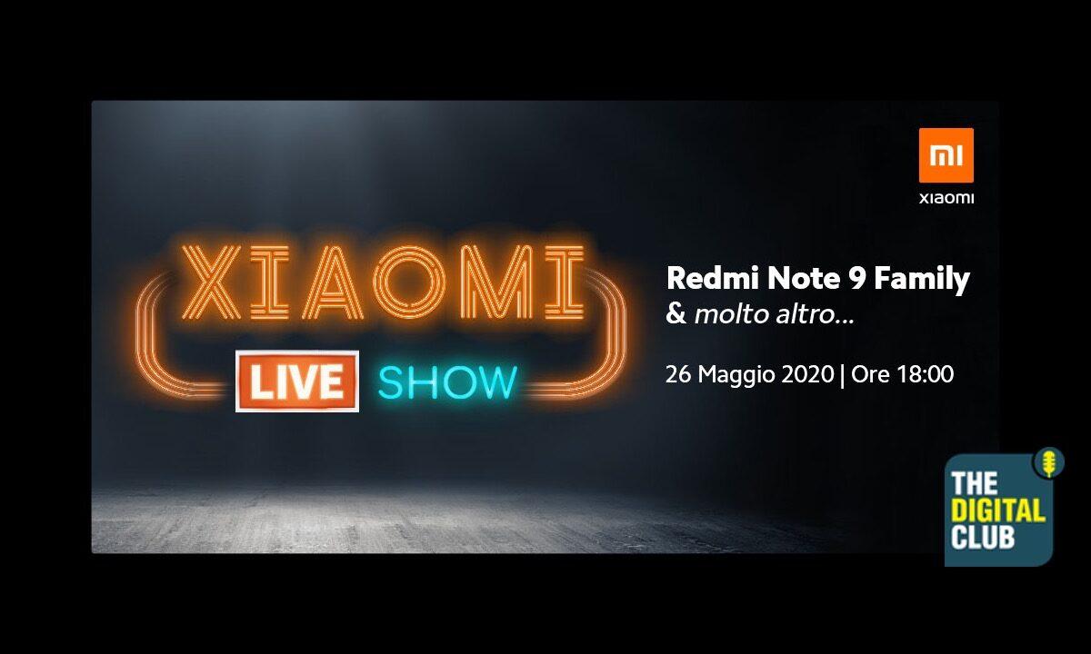 The Digital Club, seconda puntata: domani live alle 18 per il lancio Xiaomi