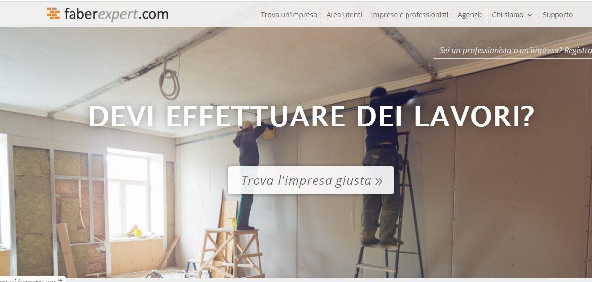 FaberExpert.com: il marketplace dell'edilizia per ristrutturare da casa