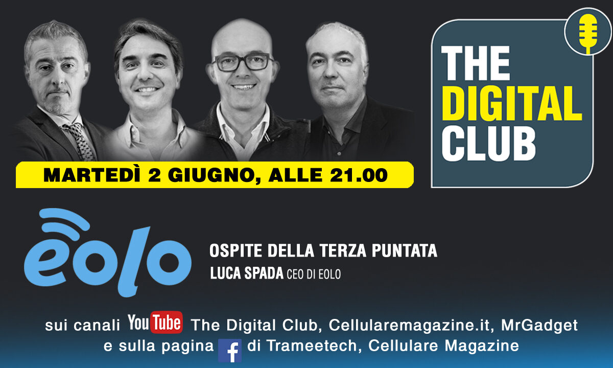 Come rivedere The Digital Club con ospite Luca Spada (Eolo)