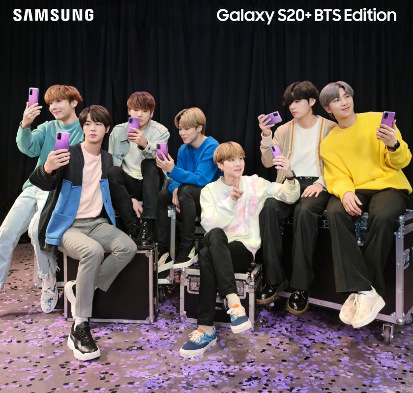 Samsung: ecco il Galaxy S20+ e Galaxy Buds+ BTS Edition