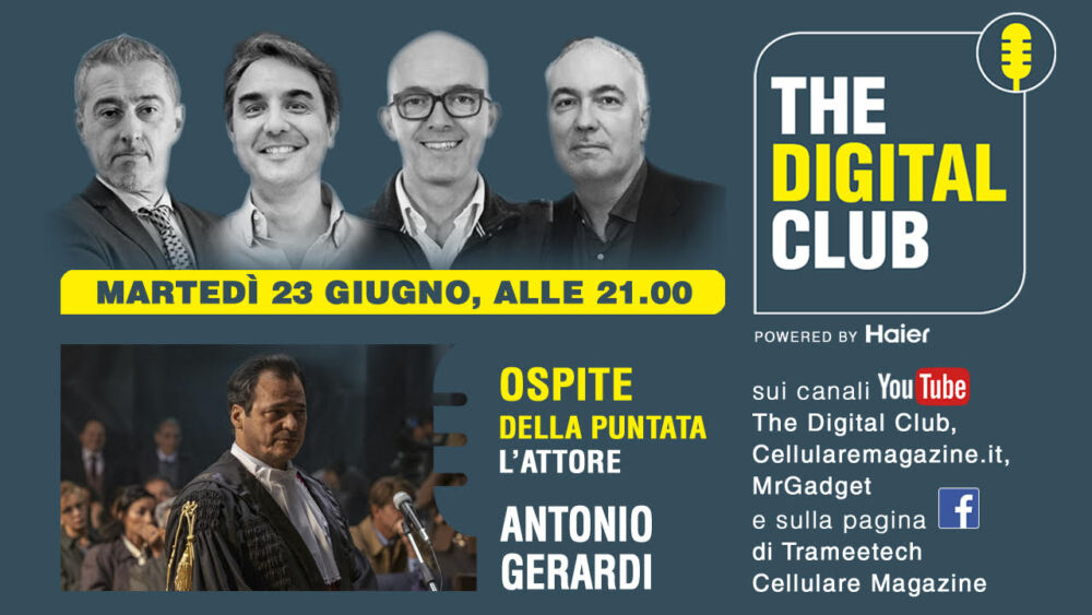 "L'attore Antonio Gerardi ospite di ""The Digital Club powered by Haier"""