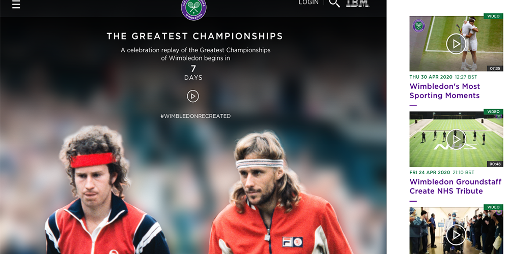 Oggi è cominciato il torneo di Wimbledon. Grazie a Ibm…
