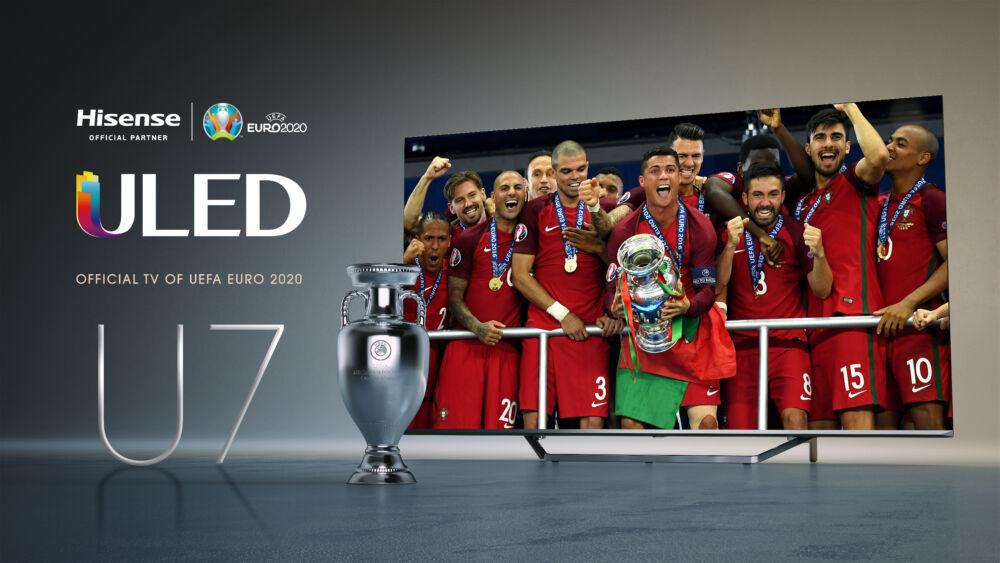 Hisense ULED U7: il TV ufficiale di EURO 2020