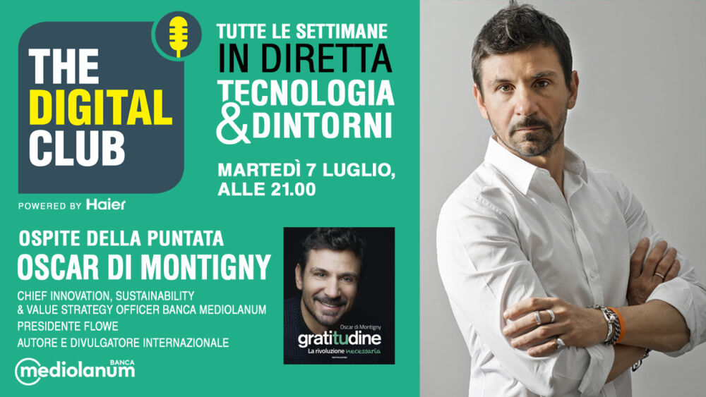 Oscar di Montigny ospite nell'ottava puntata di The Digital Club powered by Hayer