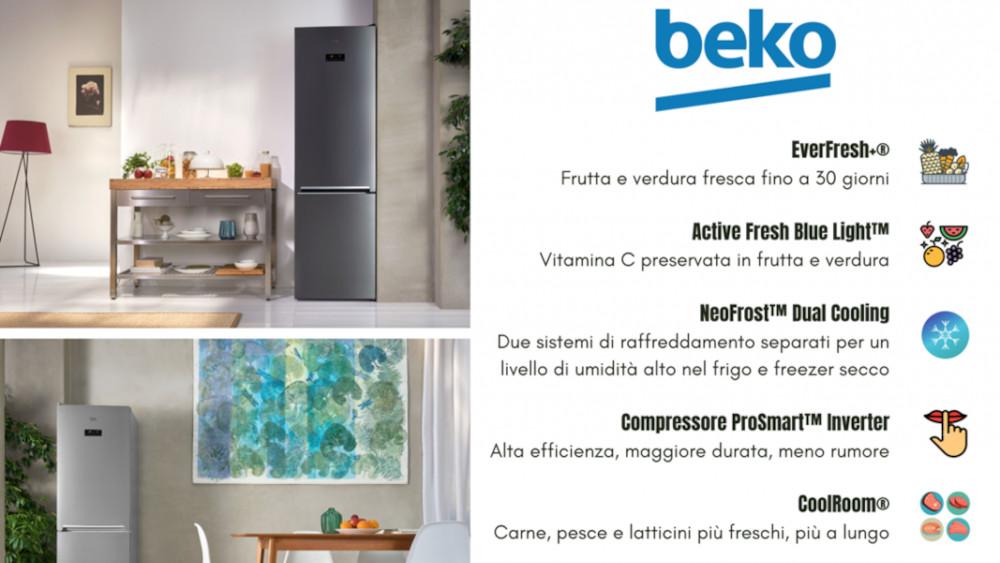 La tecnologia dei frigoriferi combinati di Beko