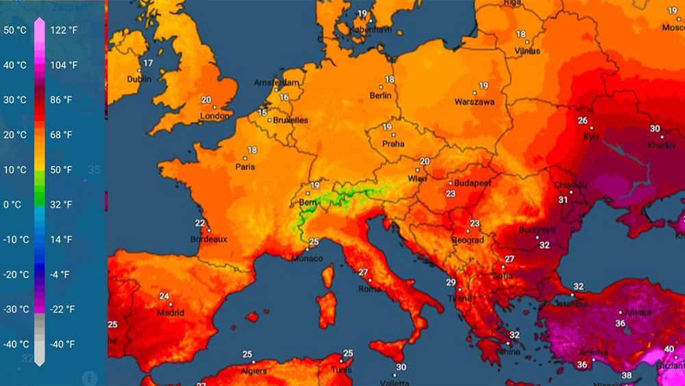 App Meteo&Radar: la novità è la carta della temperatura