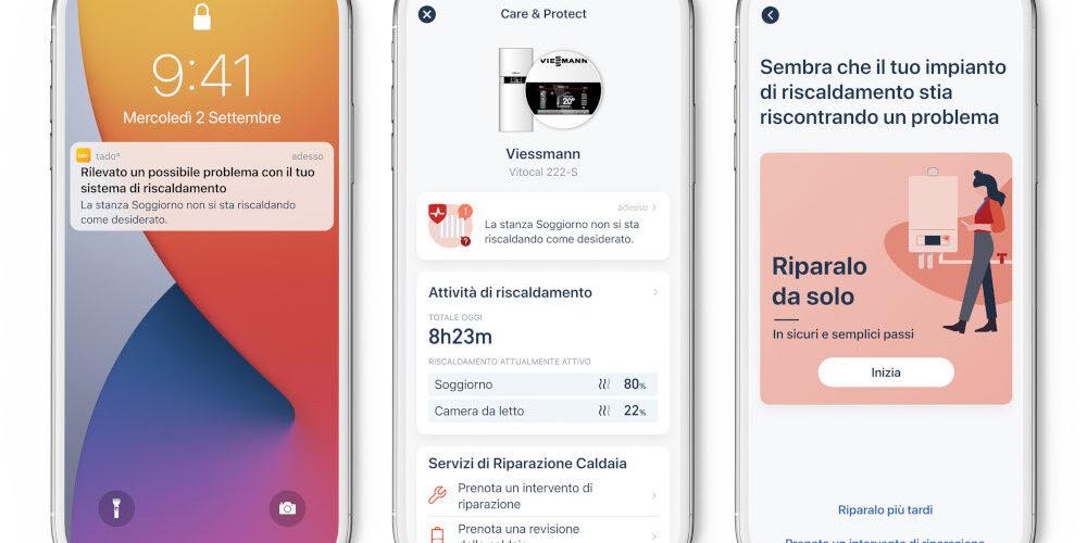 Care & Protect disponibile sull'app di tado°