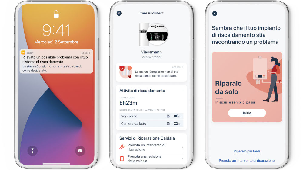 Care & Protect disponibile sull'app di tado°