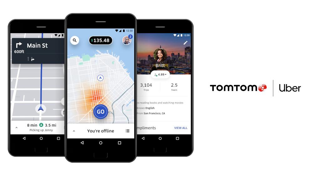 La partnership di TomTom e Uber si rafforza
