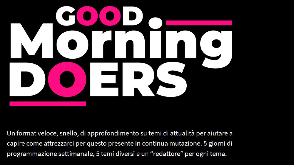 Nasce Good Morning Doers, la rassegna stampa di Rinascita Digitale