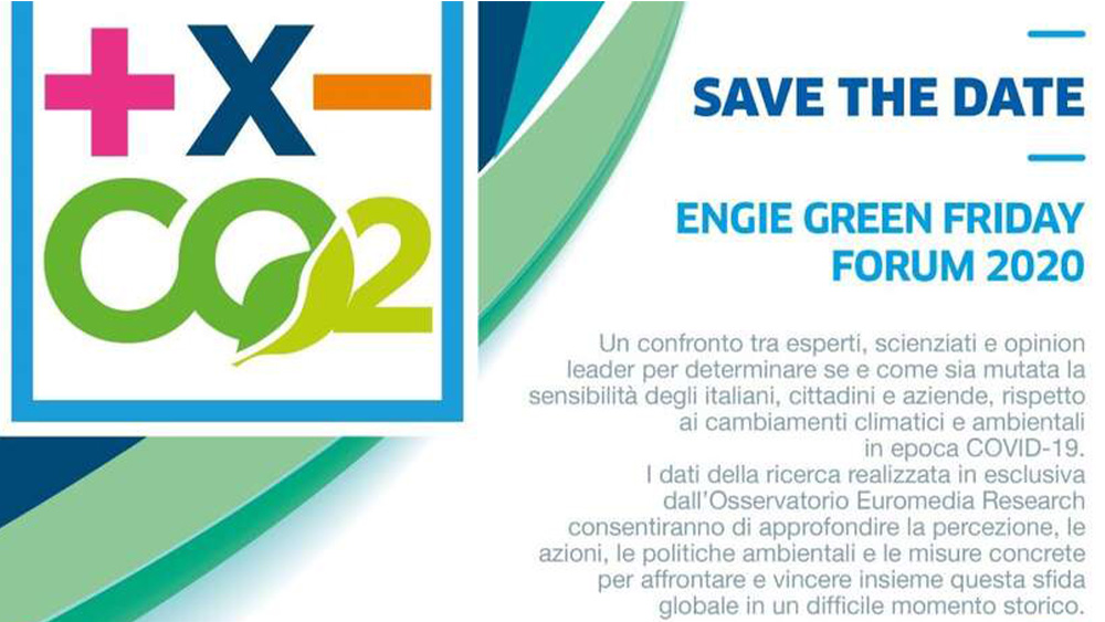 ENGIE Green Friday 2020, la ricerca sul futuro sostenibile