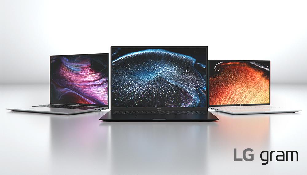 La lineup di Notebook ultraleggeri della serie LG gram