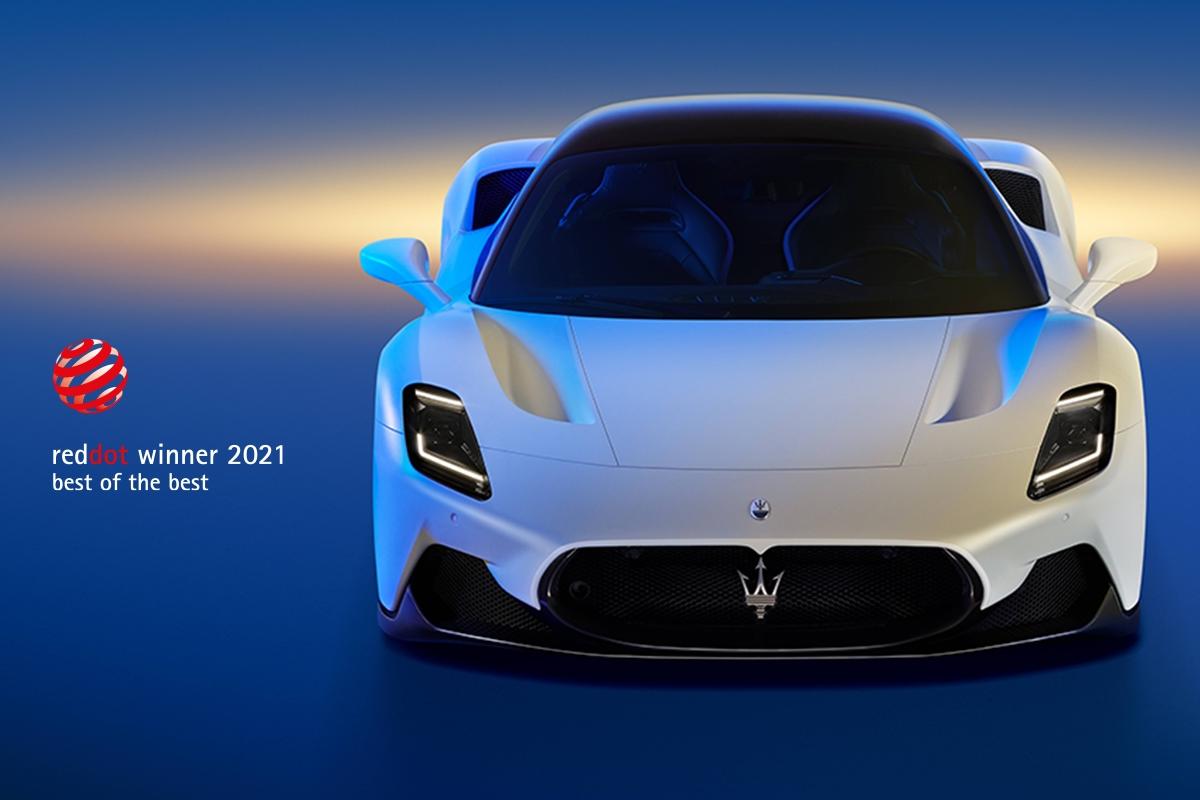 "Maserati MC20 premiata ai ""Red Dot Awards 2021"""
