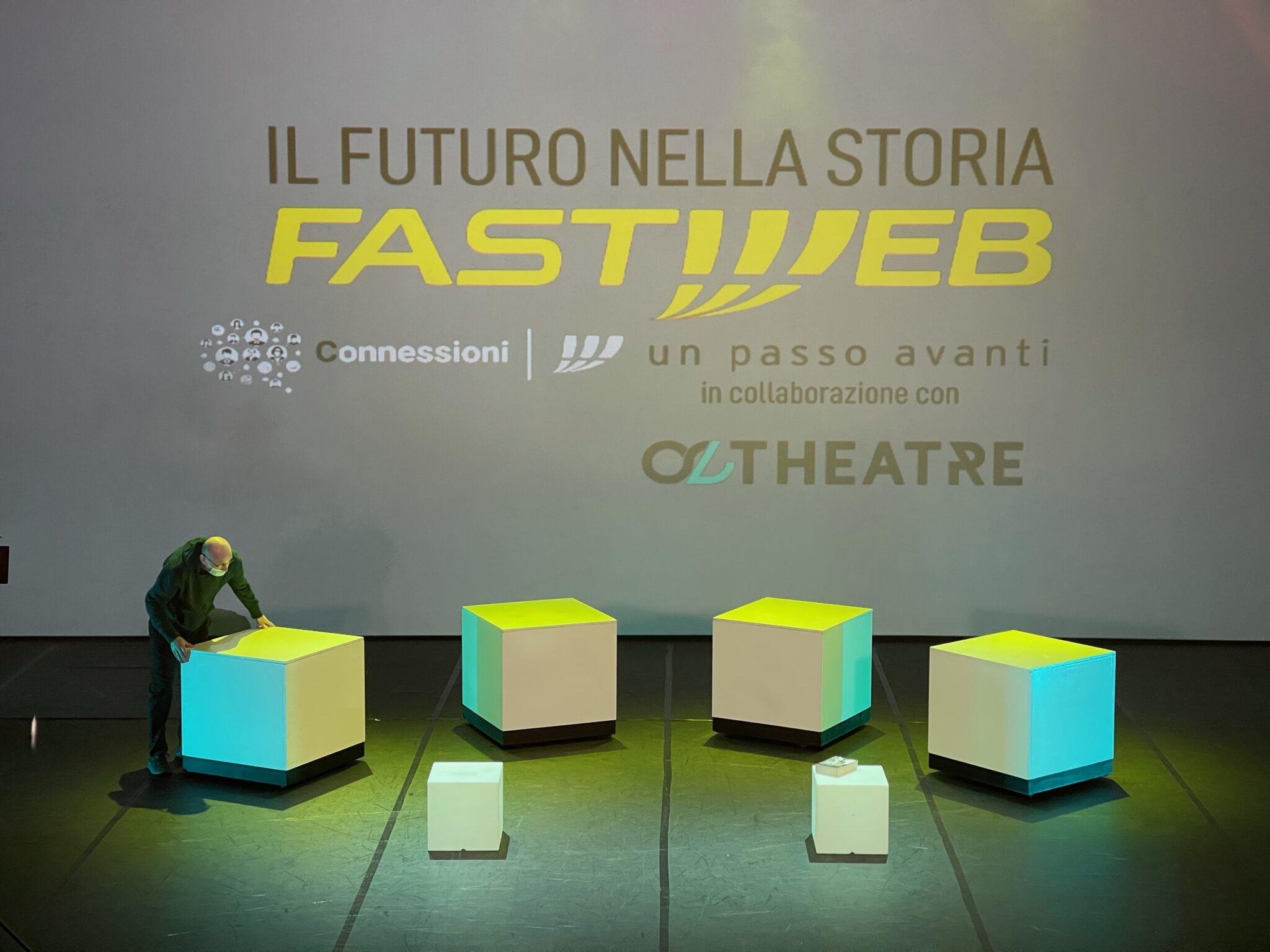 Fastweb e il teatro online per raccontare i grandi innovatori
