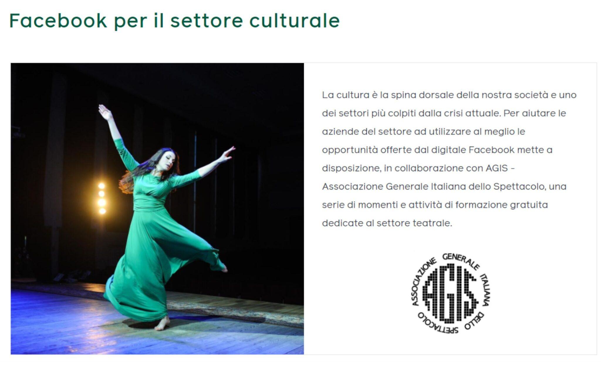 Le iniziative di Facebook a Agis per la Giornata Mondiale dei Teatri
