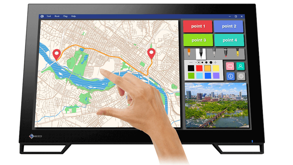 Il monitor touch screen EIZO DuraVision