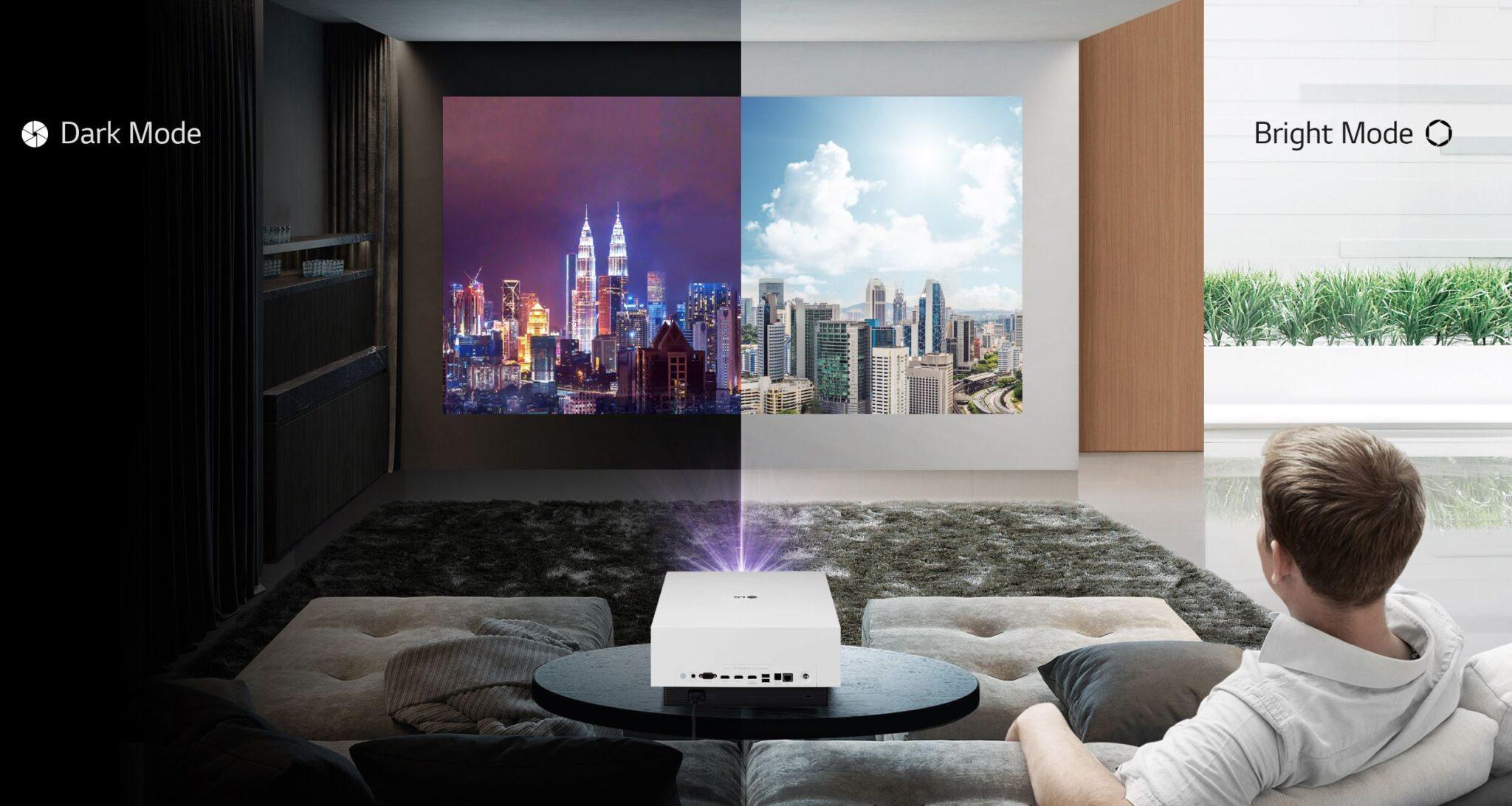 Il proiettore laser LG CineBeam 4K Uhd per l'home cinema