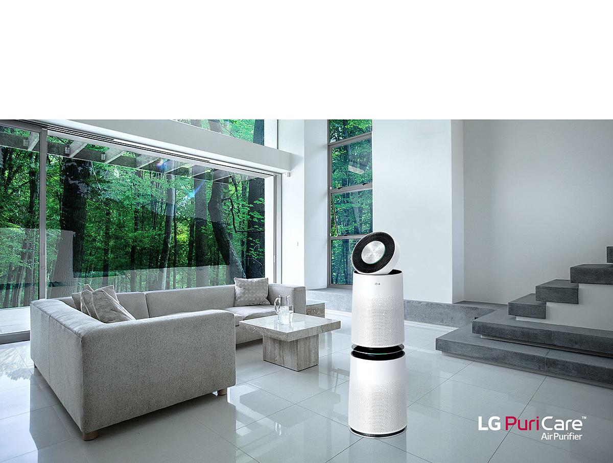 La prova del purificatore d'aria LG Puricare, il benessere d'arredo