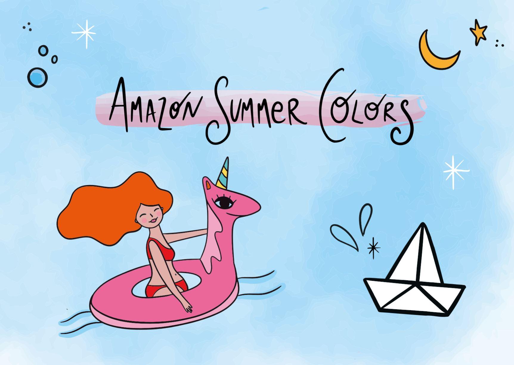Amazon festeggia l'estate italiana con illustrazioni e vetrine