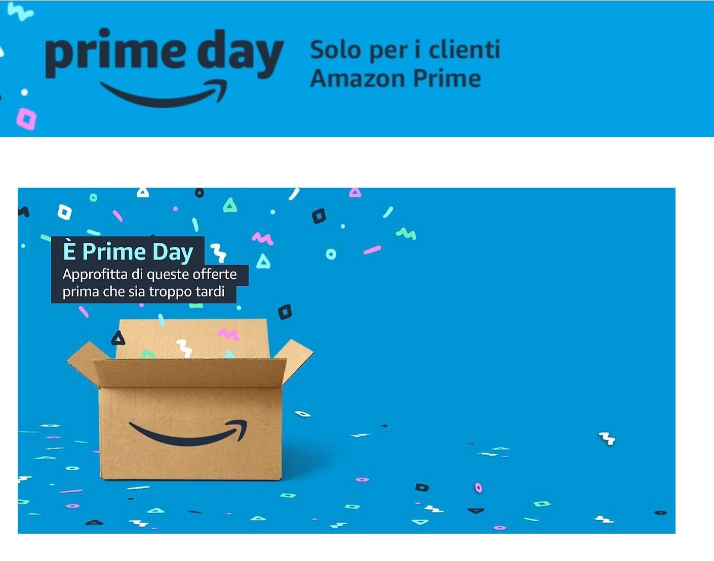 Le offerte Prime Day: prodotti Amazon e molto altro