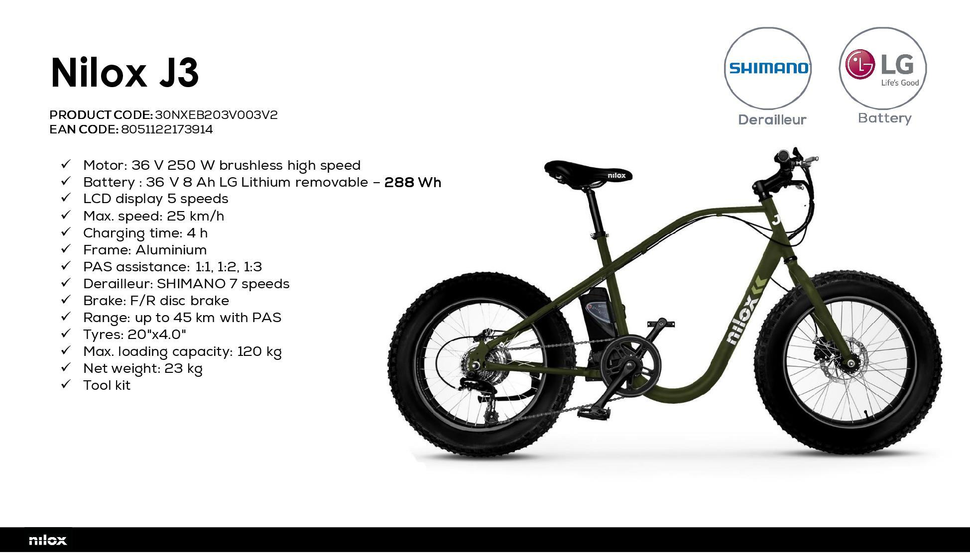 Nilox J3 bicicletta elettrica