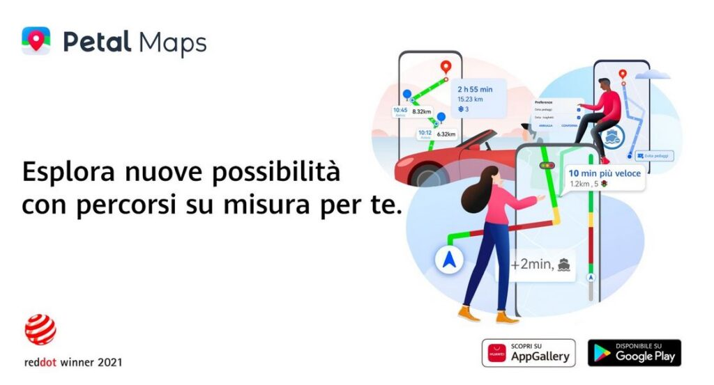 Petal Maps app navigazione Huawei