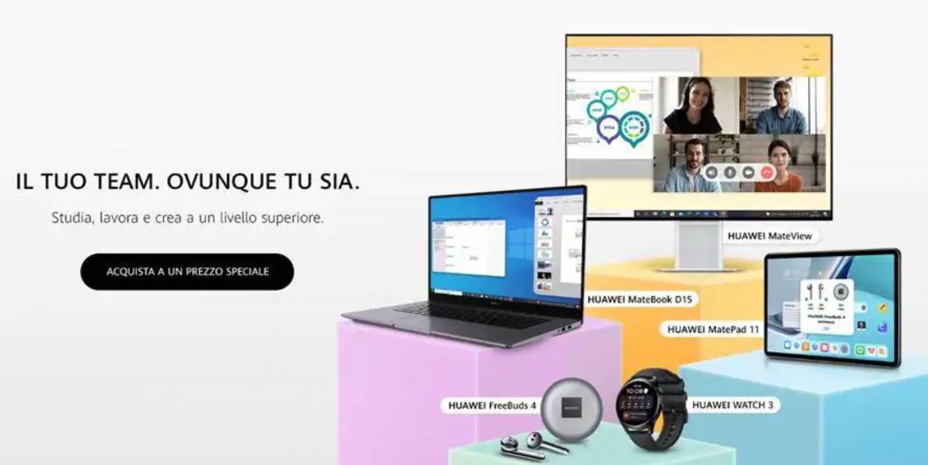 I prodotti Huawei in offerta per il back to school