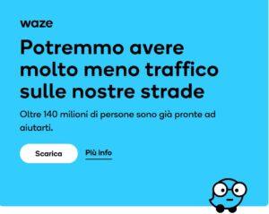 aggiornamento Waze previsioni viaggio
