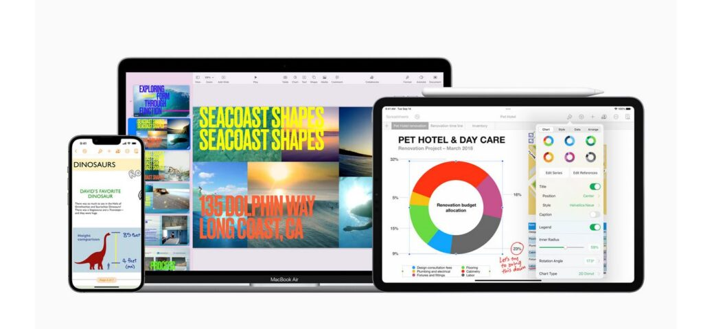 Apple iWork Keynote Pages Numbers