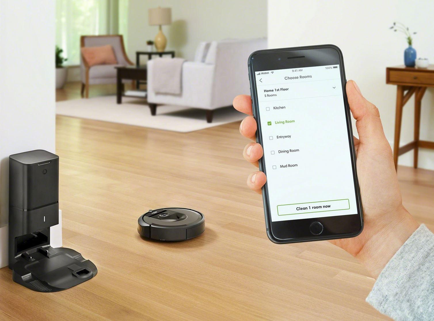 Il robot aspirapolvere Roomba i7+ e il nuovo sistema intelligente