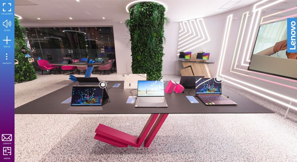 Spazio Lenovo Virtual Showroom