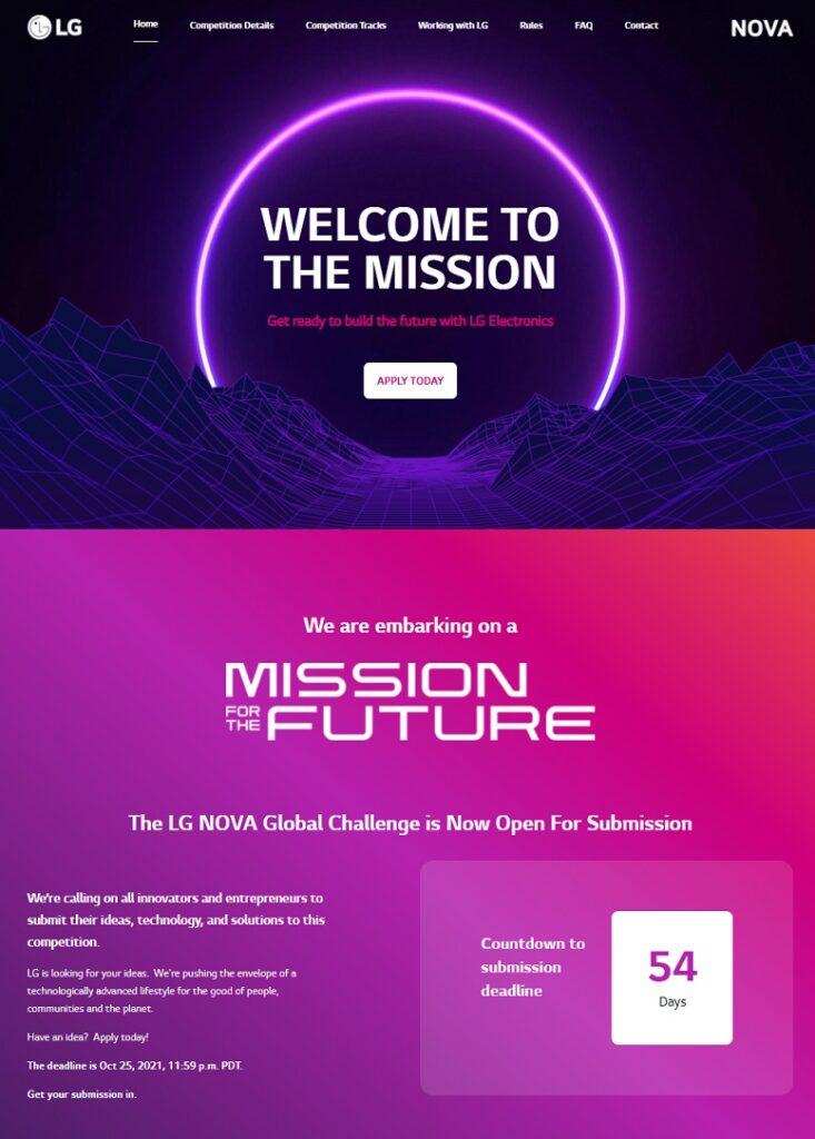 LG NOVA mission for the future