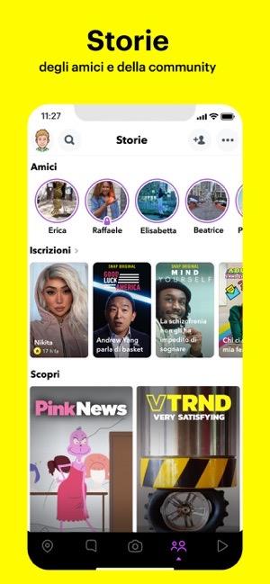 Futuro shopping Snapchat