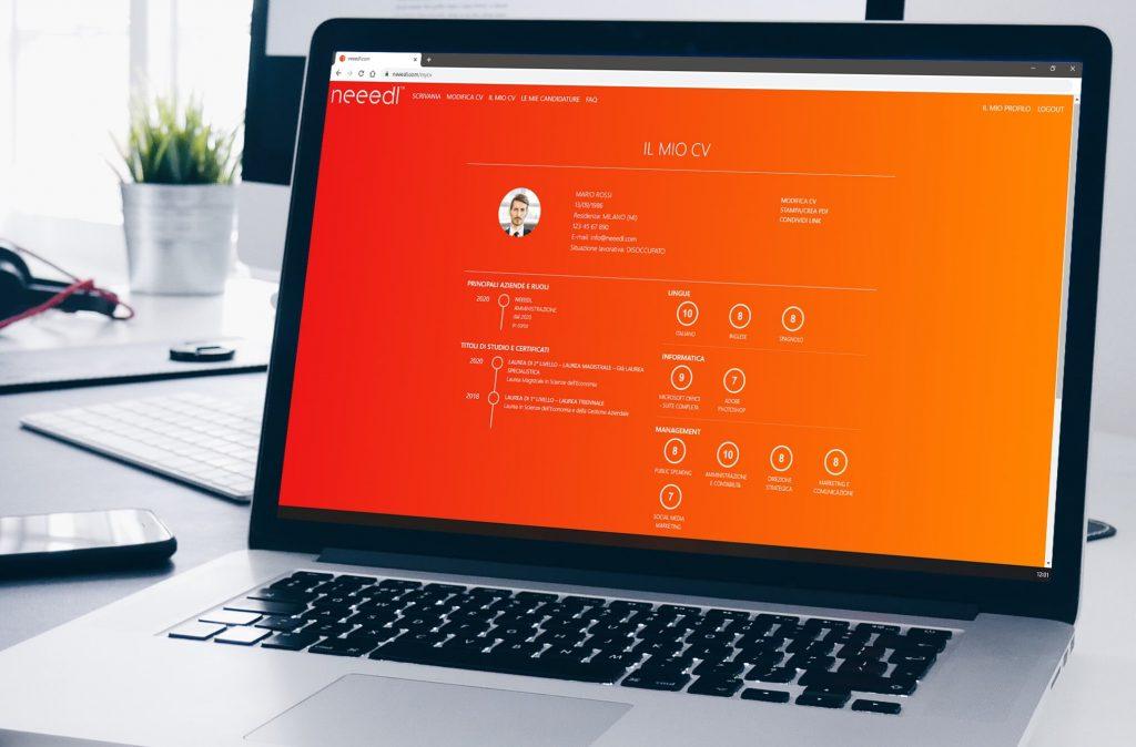 Needl, il servizio gratuito per creare curriculum online